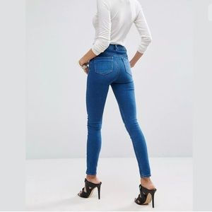 NWT Asos High Waist Skinny Jeans in Reef Wash